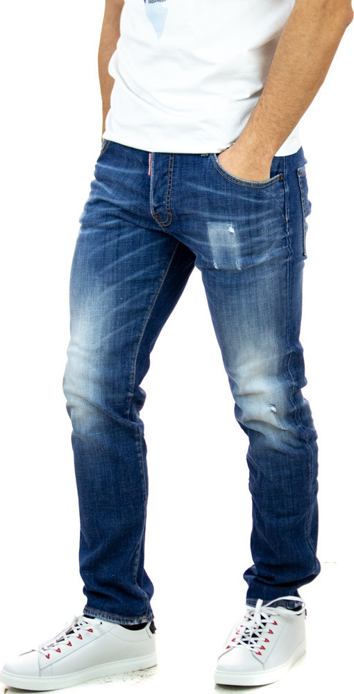 Ανδρικό Παντελόνι Τζιν DSQUARED2 S74LB0715S30342-470 Τζιν Ανοιχτό