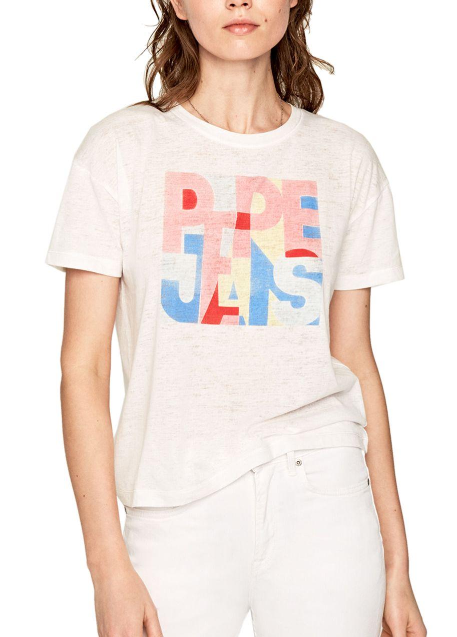 Γυναικεία μπλούζα PEPE JEANS PL504439 ΑΣΠΡΗ