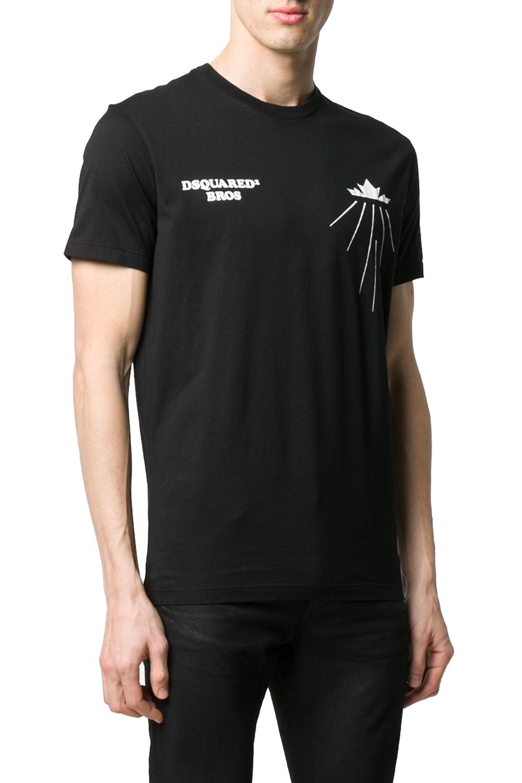 Ανδρική Μπλούζα DSQUARED2 S71GD0885-S22427-187 Μαύρη