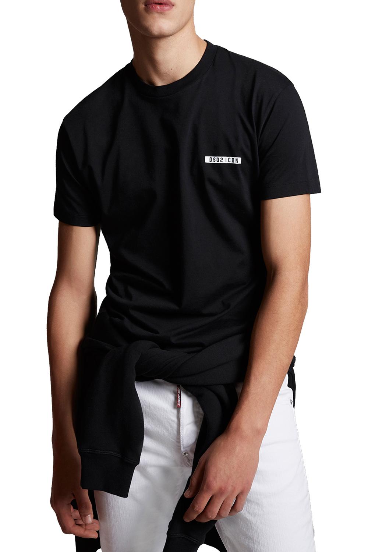 Ανδρική Μπλούζα DSQUARED2 S79GC0002-S23009-900 Μαύρη