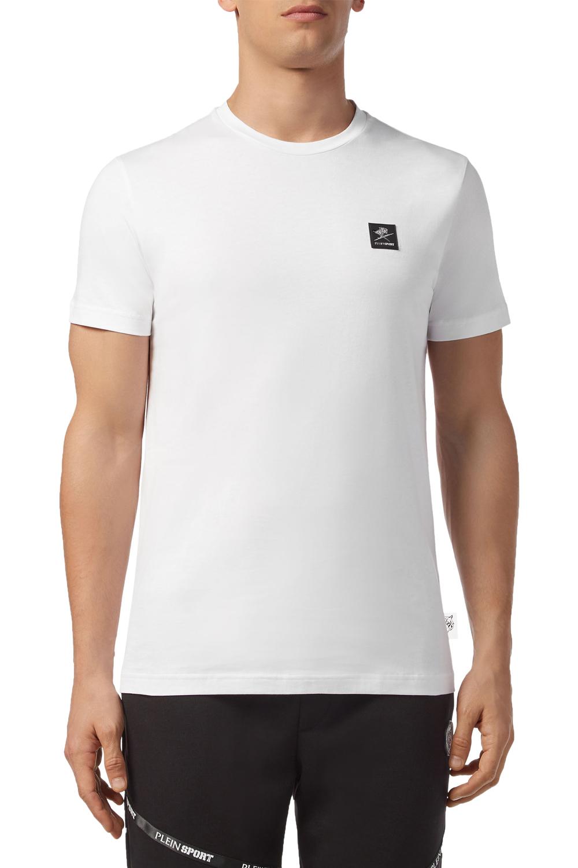 Ανδρική Μπλούζα PLEIN SPORT MTK4168-SJY001N-01 Άσπρη