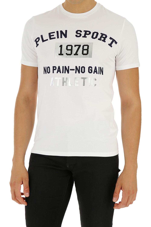 Ανδρική Μπλούζα PLEIN SPORT MTK4171-SJY001N-01 Άσπρη