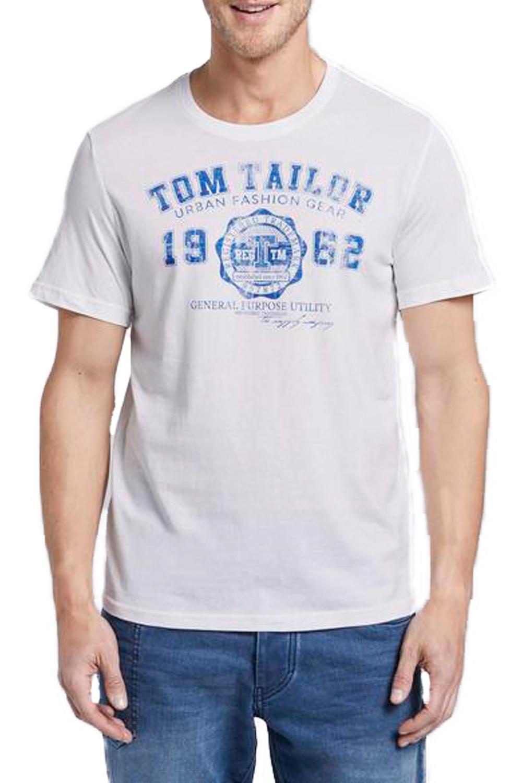 Ανδρική Μπλούζα TOM TAILOR 1008637.09.10 Άσπρο