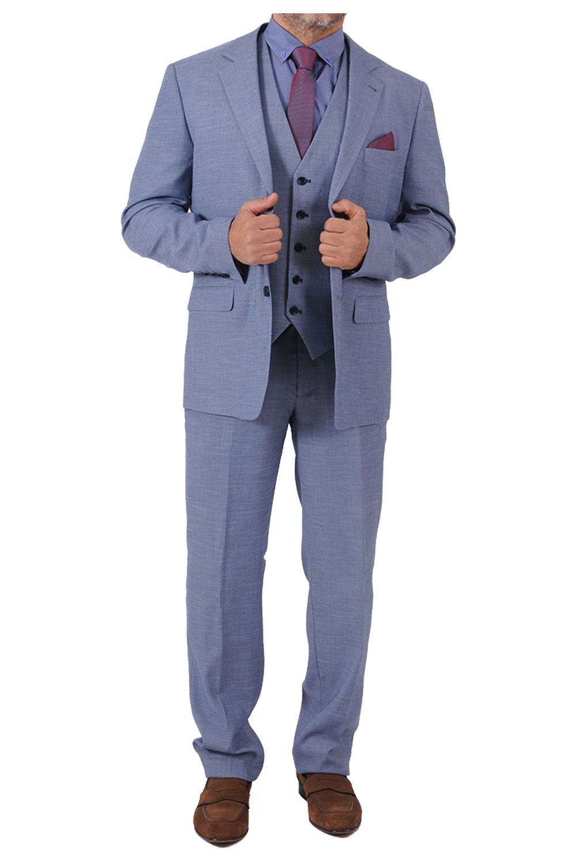 Ανδρικό Κουστούμι LEONARDO S20LU1530063-27 Μπλε Ρουα
