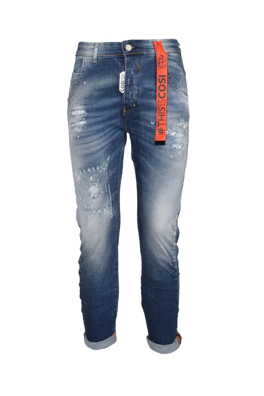 Ανδρικό Παντελόνι COSI 55-BENTLEY2 Τζιν Σκούρο