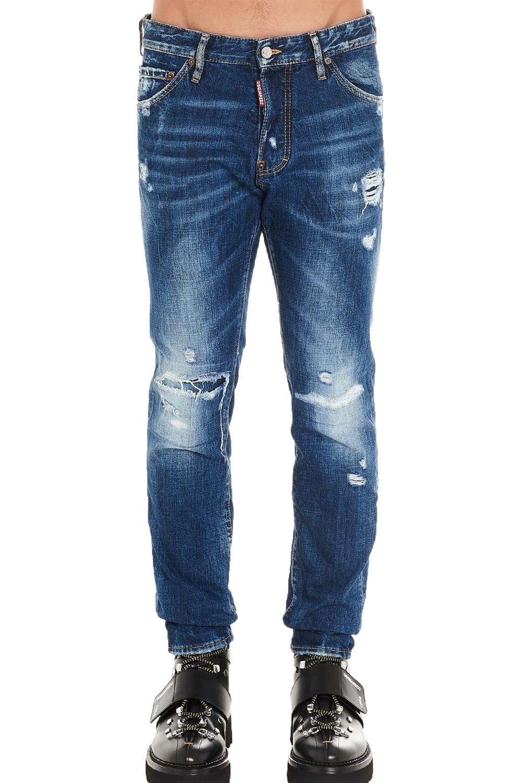 Ανδρικό Παντελόνι DSQUARED2 S71LB0651-S30309-470 Τζιν Σκούρο