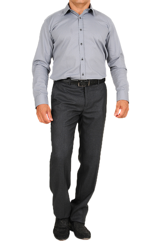 Ανδρικό Παντελόνι LEONARDO W18LU0521551 Γκρι