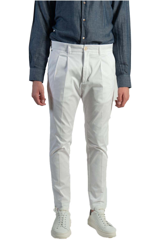 Ανδρικό Παντελόνι PREMIUM RAVENA ZIP 1608 Άσπρο