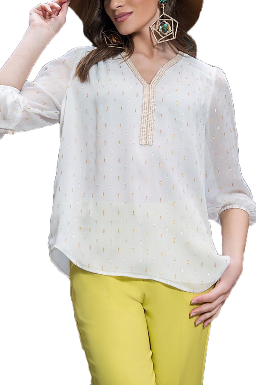 Γυναικεία Μπλούζα DERPOULI 1.10.37315 Άσπρο