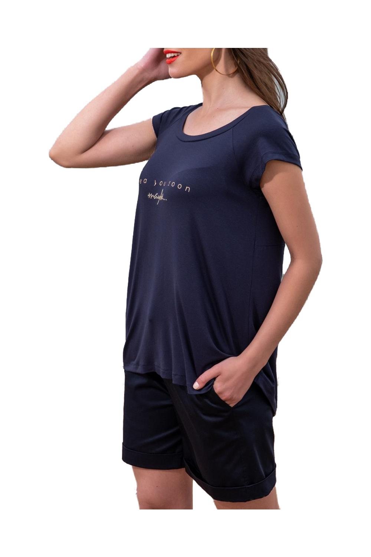Γυναικεία Μπλούζα DERPOULI 1 10 85844 Μπλε