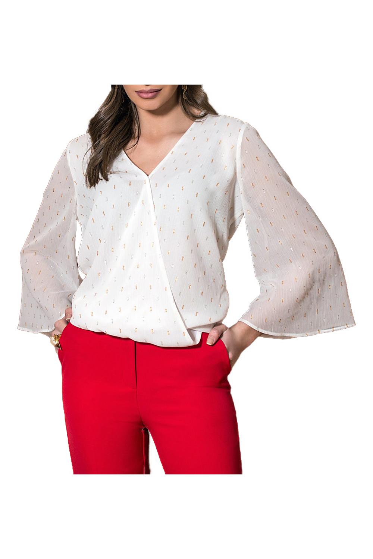 Γυναικεία Μπλούζα DERPOULI 1 10 37304 Άσπρο