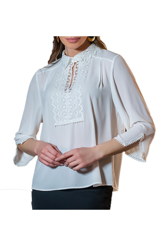 Γυναικεία Μπλούζα DERPOULI 11037-49173 Άσπρο