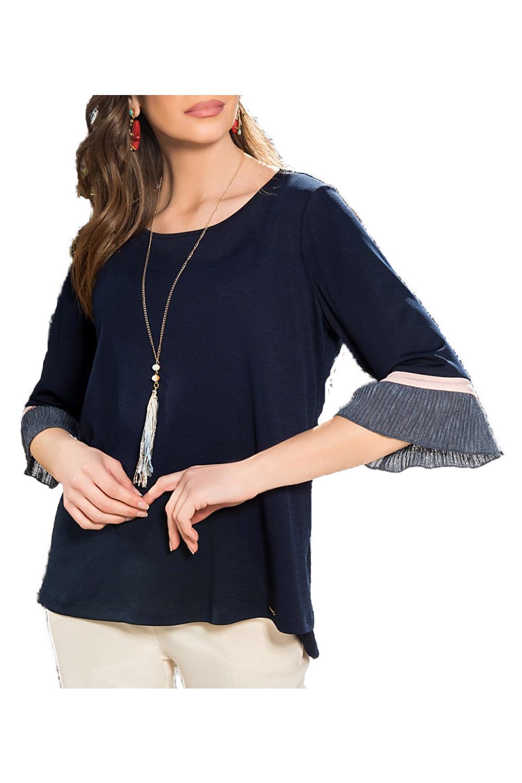 Γυναικεία Μπλούζα DERPOULI 1 10 85682 Navy
