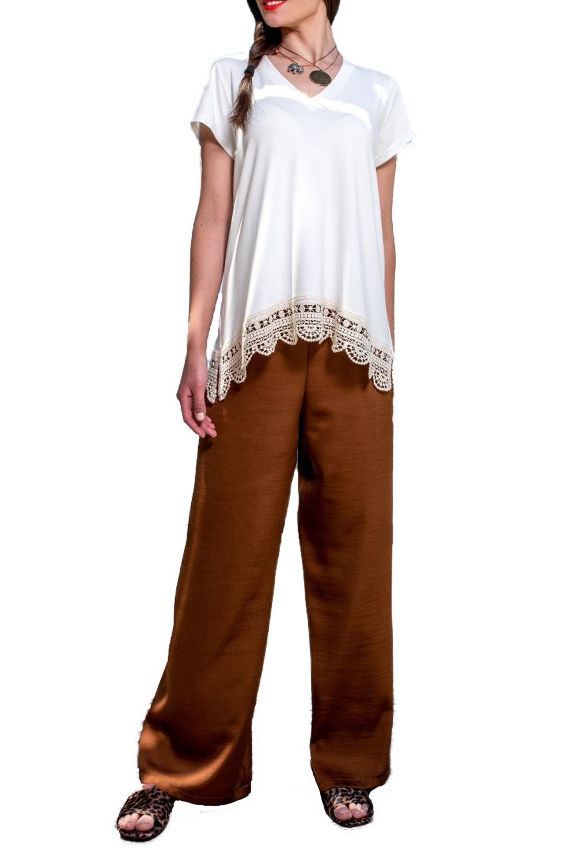 Γυναικεία Μπλούζα DERPOULI 1 10 85823 Άσπρο