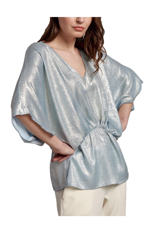 Γυναικεία Μπλούζα NADIA CHALIMOU BY PASSAGER 49126 Σιέλ