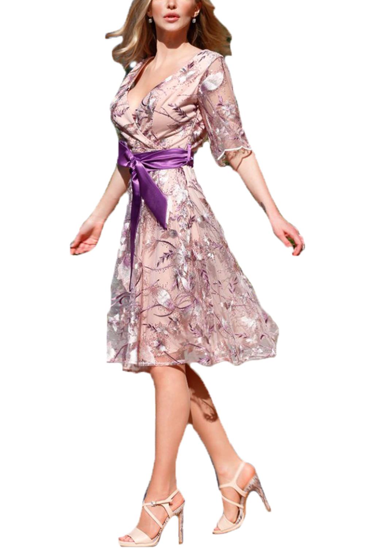 Γυναικείο Φόρεμα PERSONAL S20P122 Μωβ