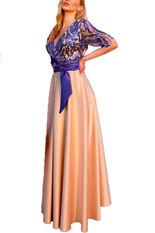 Γυναικείο Φόρεμα PERSONAL S20P109 Μπλέ