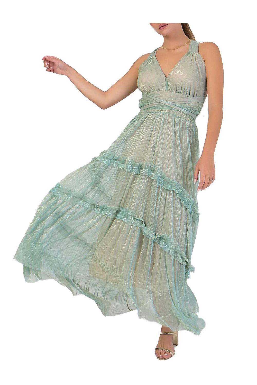 Γυναικείο Φόρεμα Coocu 2070.926351101 Πράσινο