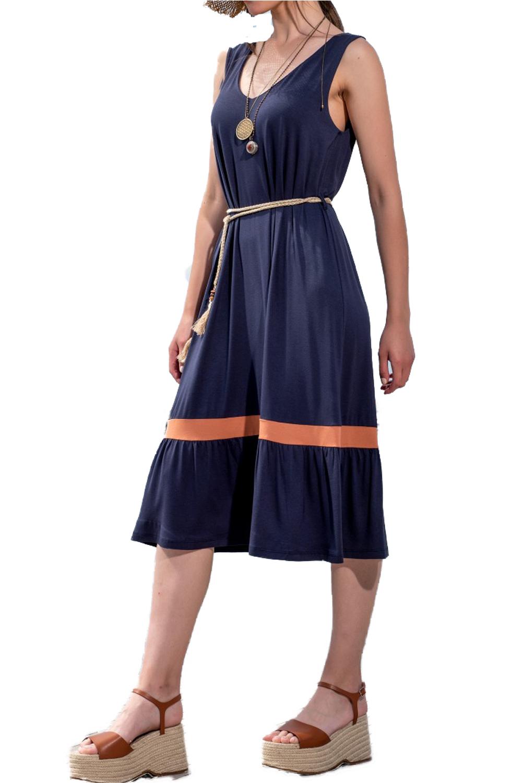 Γυναικείο Φόρεμα DERPOULI 1 20 85817 Μπλε