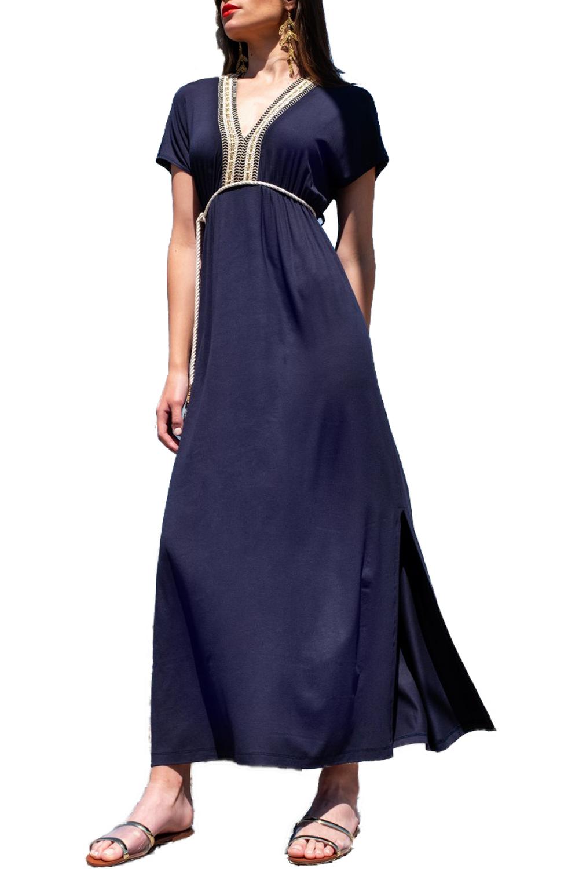 Γυναικείο Φόρεμα DERPOULI 1 20 37374 Μπλε