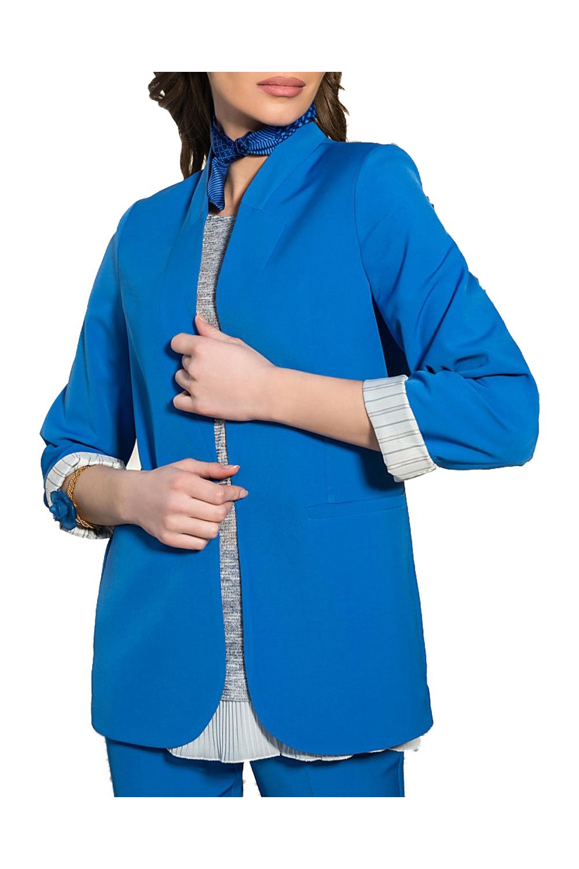 Γυναικείο Σακάκι DERPOULI 1.21.37288 Μπλε Ρουα