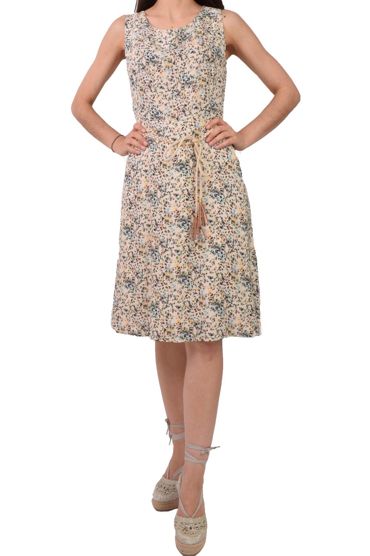Γυναικείο Φόρεμα KANELLIS X-625 Μπέζ