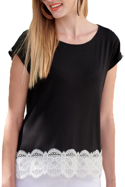 Γυναικεία Μπλούζα DERPOULI 1.10.25477 Μαύρη