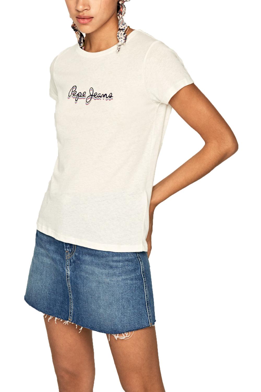 Γυναικεία Μπλούζα PEPE JEANS PL504444-808 Άσπρη