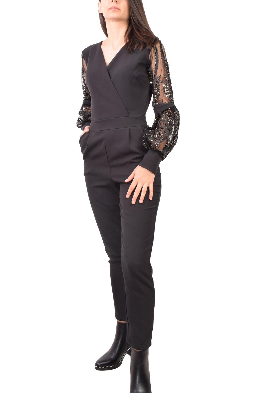 Γυναικεία Ολόσωμη Φόρμα MISS SELENS 16050097 Μαύρο