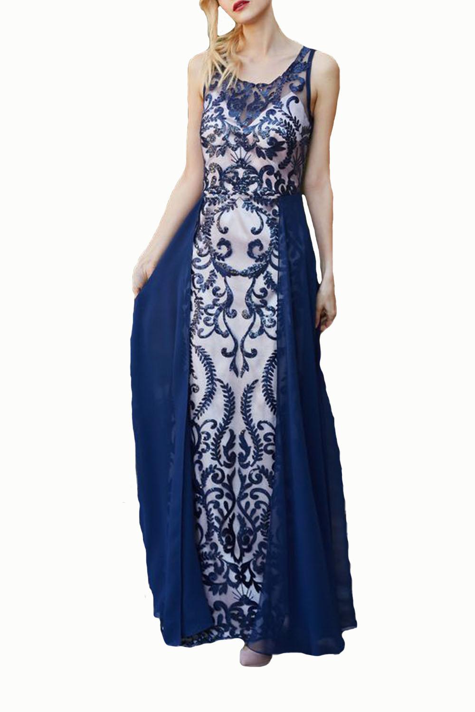 Γυναικείο Φόρεμα STELLA DERLOU 19041 Μπλε