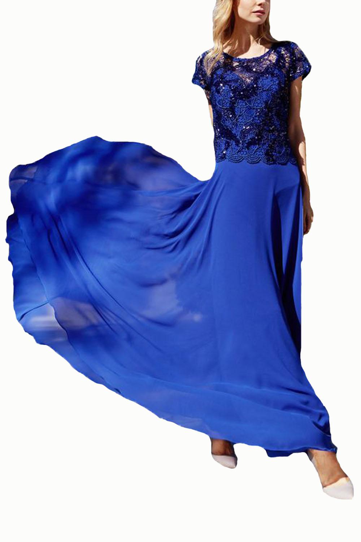 Γυναικείο Φόρεμα STELLA DERLOU 19045 Μπλε Ρουά