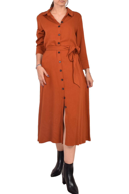 Γυναικείο Φόρεμα KANELLIS X-579 Καφέ
