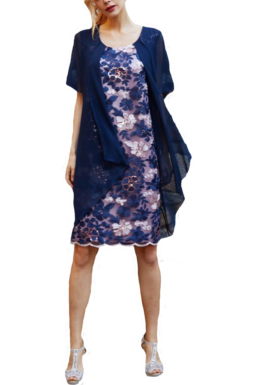 Γυναικείο Φόρεμα STELLA DERLOU 19080 Navy