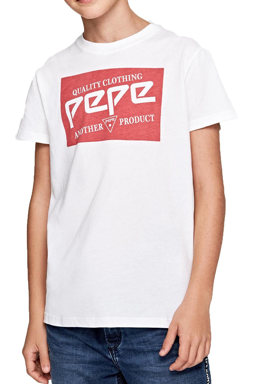 Παιδική Μπλούζα για Αγόρι PEPE JEANS PB502420 Άσπρη