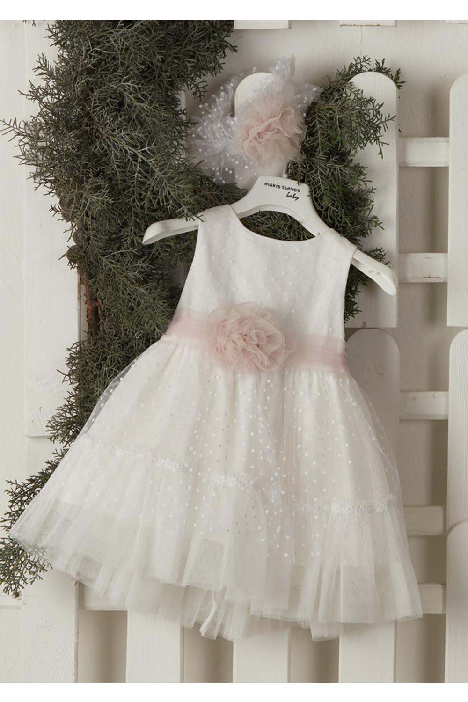 Βαπτιστικό Φόρεμα Για Κορίτσι MAKIS TSELIOS MT-4067