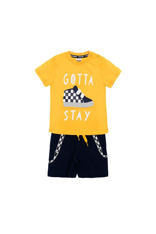 Παιδικό Σετ Σορτς Για Αγόρι SPRINT 22082001 Κίτρινο