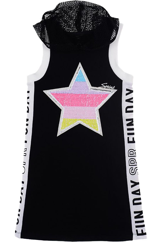Παιδικό Φόρεμα Sprint 22081103 Μαύρο