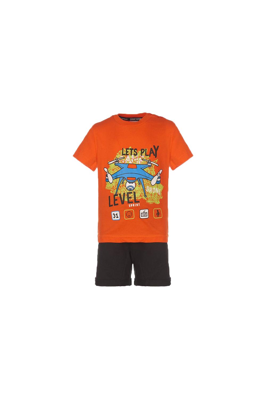 Παιδικό Σετ Για Αγόρι Σορτς SPRINT 22082022-714 Πορτοκαλί