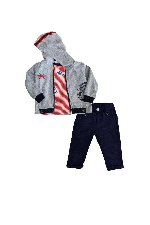 Παιδικό Σετ Ζακέτα Για Αγόρι TRAX 9611 Γκρι