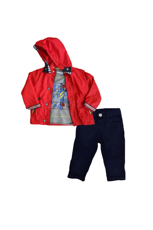 Παιδικό Σετ Μπουφάν Για Αγόρι TRAX 9617 Κόκκινο