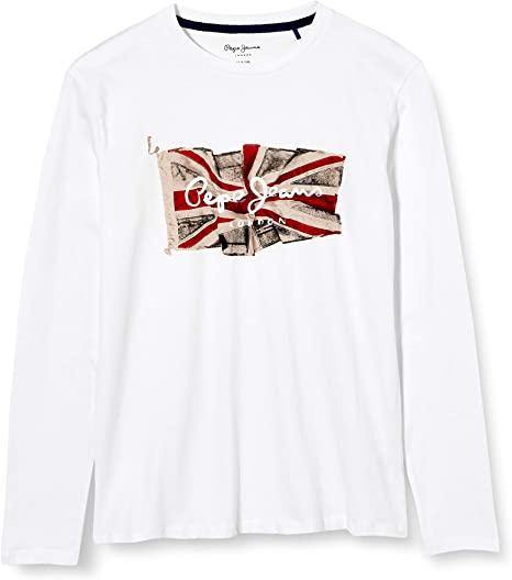 Παιδική Μπλούζα για Αγόρι PEPE JEANS PB502603 Λευκή