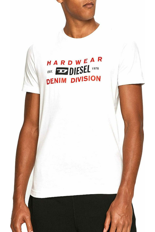 Ανδρική Μπλούζα DIESEL T-DIEGOS-K32 A00354-0AAXJ-100 Άσπρη