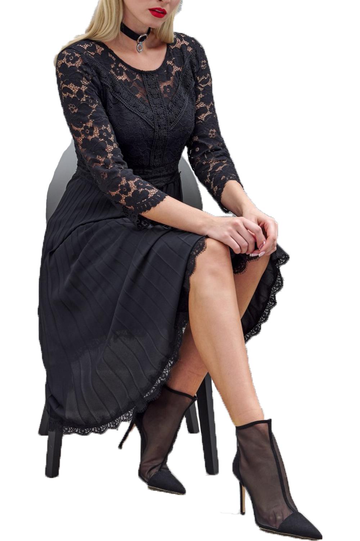 Γυναικείο Φόρεμα DERPOULI 1.20.37-48963 Μαύρο