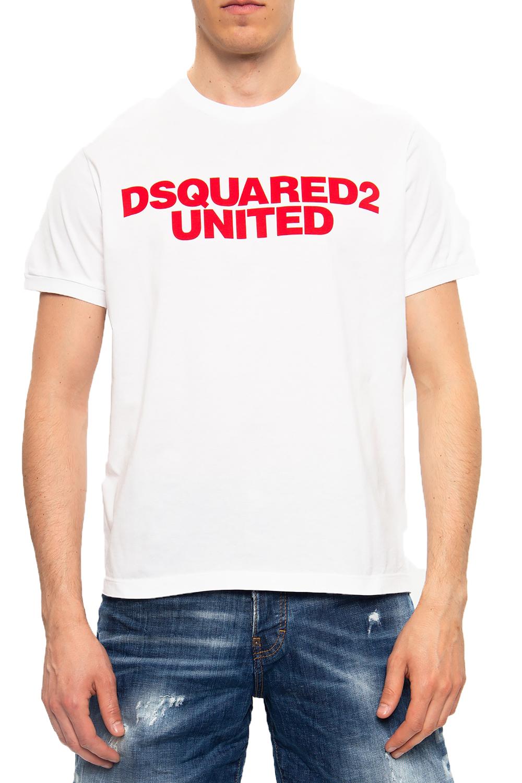Ανδρική Μπλούζα DSQUARED2 S74GD0762-S22427-100 Άσπρη