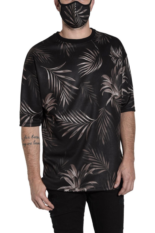 Ανδρική Μπλούζα TWIN BLACK 01-0132 Καφέ