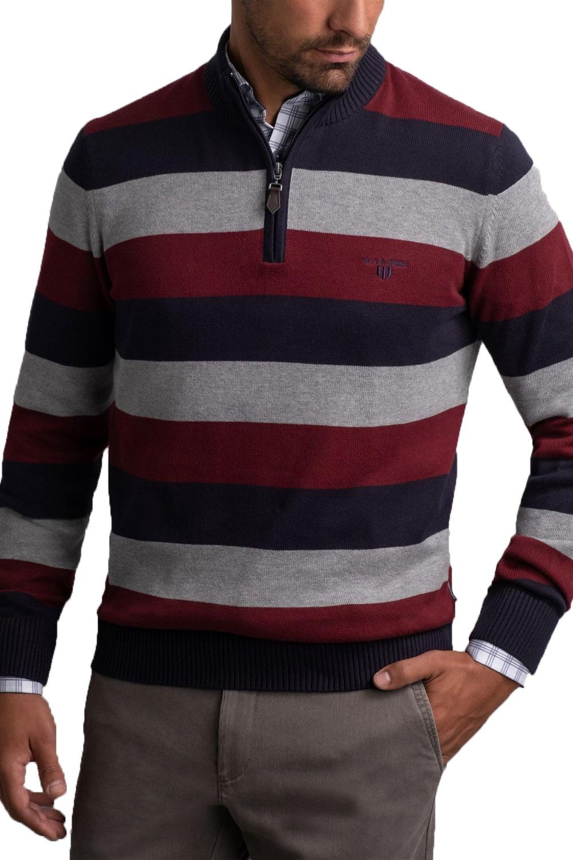 Ανδρική Μπλούζα NAVY & GREEN 24YM.909/2LZ Κόκκινο