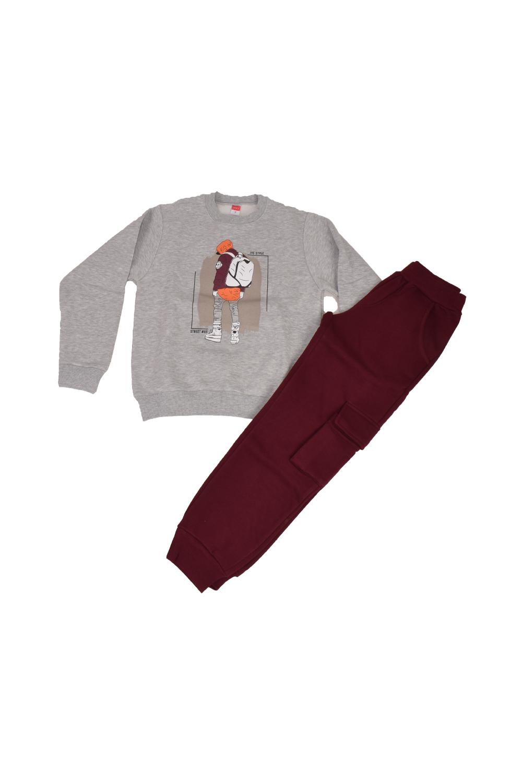 Παιδικό Σετ Φόρμα Για Αγόρι JOYCE 202423 Μπορντό