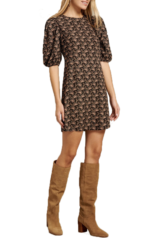 Γυναικείο Φόρεμα DERPOULI 1.20.86075 Καφέ