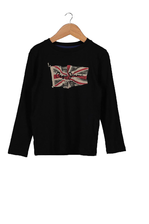 Παιδική Μπλούζα για Αγόρι PEPE JEANS PB502603 Μαύρη
