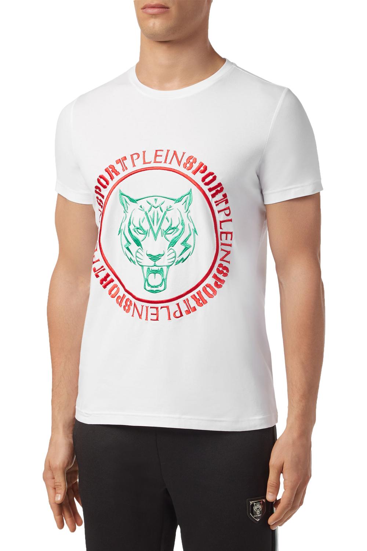Ανδρική Μπλούζα PLEIN SPORT MTK4170-SJY001N-01 Άσπρη
